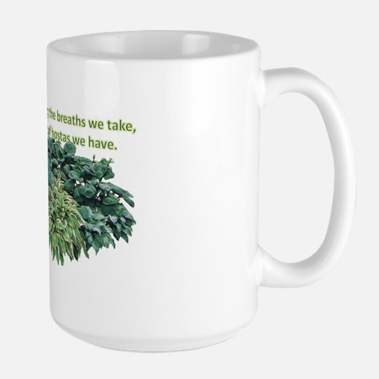 Number of hostas Large Mug