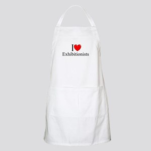 """I Love (Heart) Exhibitionists"" BBQ Apron"