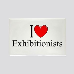 """""""I Love (Heart) Exhibitionists"""" Rectangle Magnet"""