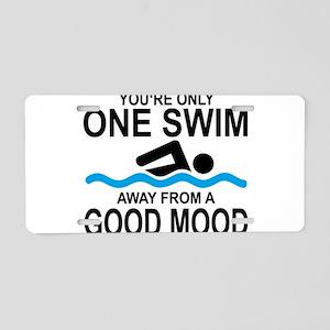 schwimmen Aluminum License Plate