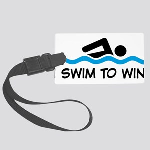 swimming Large Luggage Tag