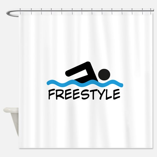 Freestyle Swimming Shower Curtain