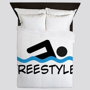 Freestyle Swimming Queen Duvet