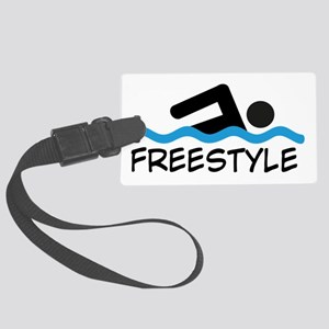 Freestyle Swimming Large Luggage Tag