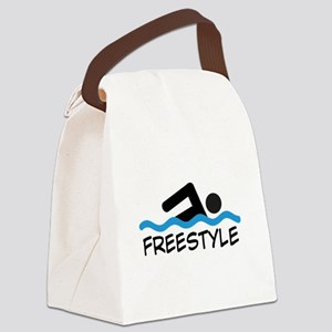 Freestyle Swimming Canvas Lunch Bag