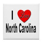 I Love North Carolina Tile Coaster