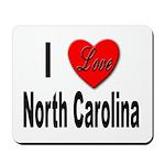 I Love North Carolina Mousepad