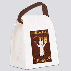 Calico Cat Ice Cream Canvas Lunch Bag