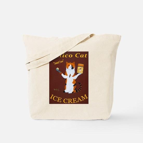 Calico Cat Ice Cream Tote Bag