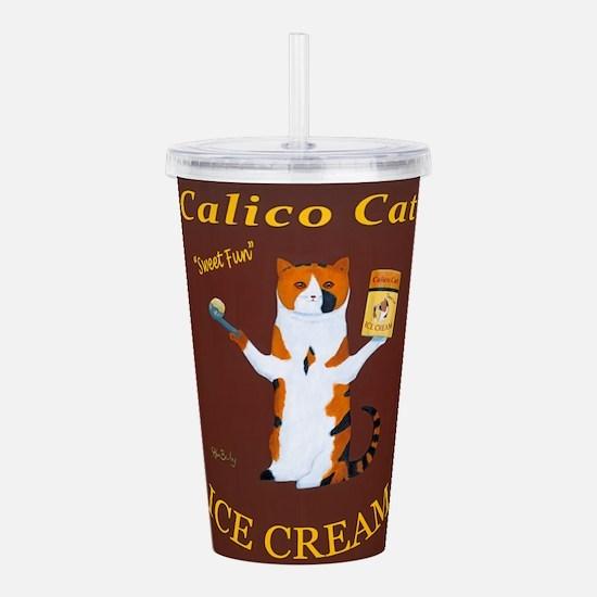 Calico Cat Ice Cream Acrylic Double-wall Tumbler