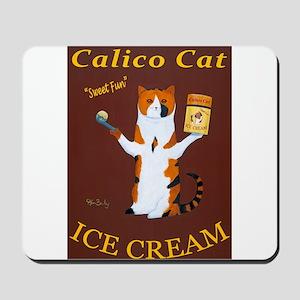 Calico Cat Ice Cream Mousepad