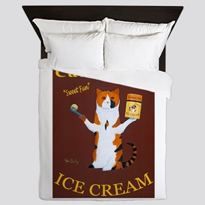 Calico Cat Ice Cream Queen Duvet