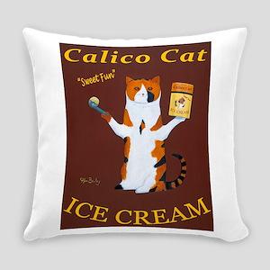 Calico Cat Ice Cream Everyday Pillow