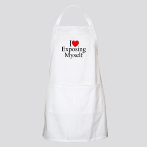 """I Love (Heart) Exposing Myself"" BBQ Apron"