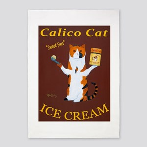 Calico Cat Ice Cream 5'x7'Area Rug