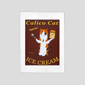 Calico Cat Ice Cream 5'x7'Area Rug
