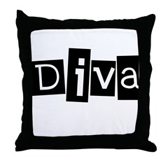 Abstract Diva Throw Pillow