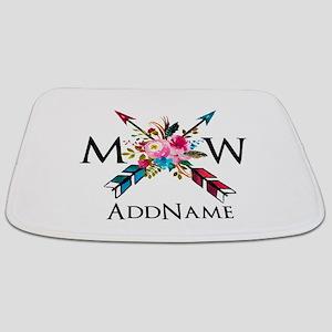 Boho Chic Arrow Monogram Bathmat