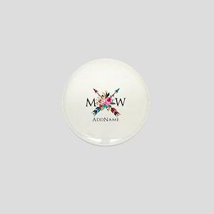Boho Chic Arrow Monogram Mini Button (10 pack)