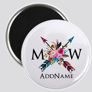 Boho Chic Arrow Monogram Magnets