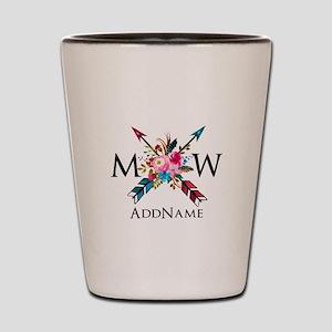 Boho Chic Arrow Monogram Shot Glass
