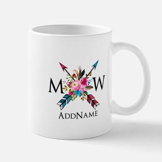 Boho Chic Arrow Monogram Mugs
