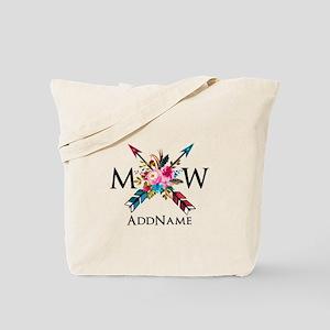 Boho Chic Arrow Monogram Tote Bag