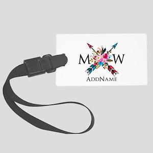 Boho Chic Arrow Monogram Luggage Tag