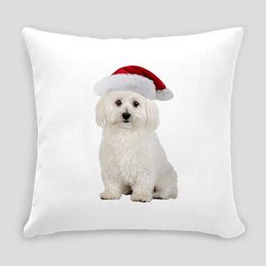 Bichon Frise Christmas Everyday Pillow