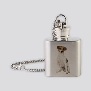 Jack Russell Terrier Flask Necklace