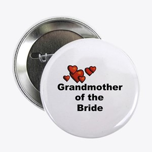 """Hearts Grandmother of the Bride 2.25"""" Button"""