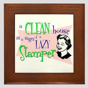 Lazy Stamper Framed Tile