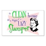 Lazy Stamper Rectangle Sticker