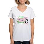 Lazy Stamper Women's V-Neck T-Shirt