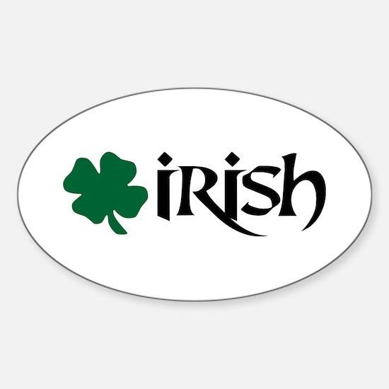 Irish v6 Oval Decal
