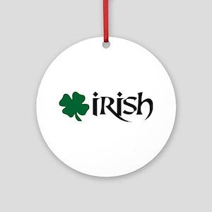 Irish v6 Ornament (Round)