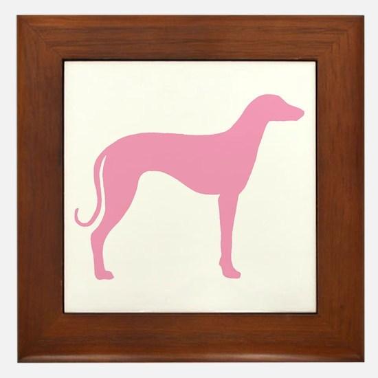 Pink Sloughi Framed Tile