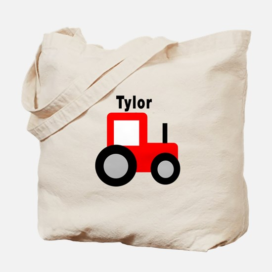 Tylor - Red Tractor Tote Bag