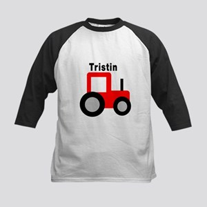 Tristin - Red Tractor Kids Baseball Jersey