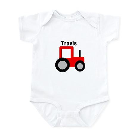 Travis - Red Tractor Infant Bodysuit
