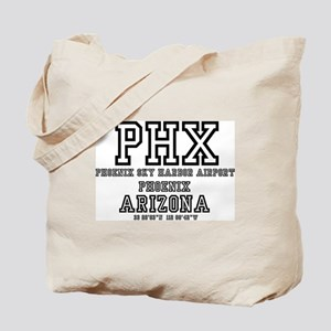 AIRPORT CODES - PHX - PHOENIX SKY HARBOR, Tote Bag