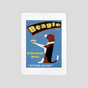 Beagle Buns 5'x7'Area Rug