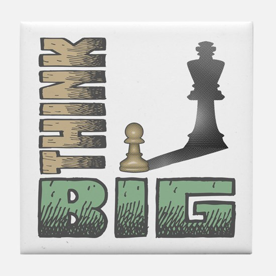Chess - Think Big Tile Coaster