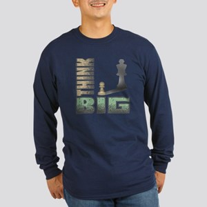 Chess - Think Big Long Sleeve Dark T-Shirt