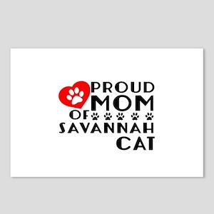 Proud Mom of Savannah Cat Postcards (Package of 8)