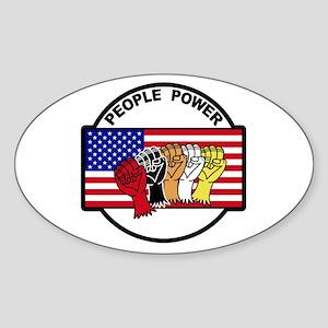 People Power Oval Sticker