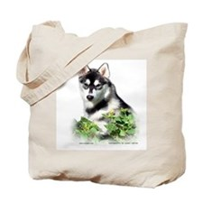 Siberian Husky Dog Tote Bag