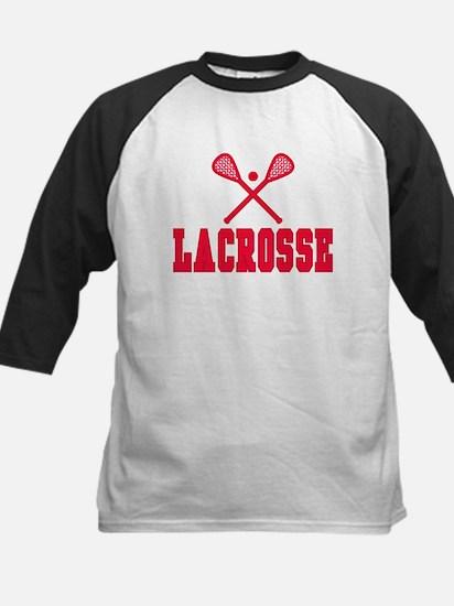 Red Lacrosse Kids Baseball Jersey