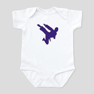 Blue Karate Silhouette Infant Bodysuit