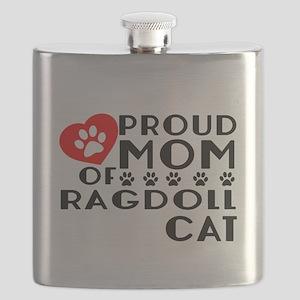 Proud Mom of Ragdoll Cat Designs Flask
